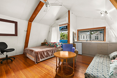 Poolside Attic Room